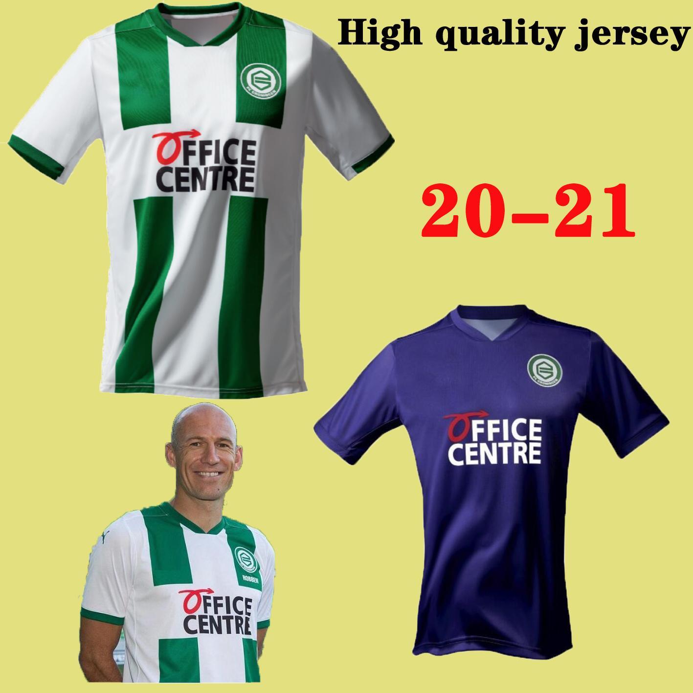 2021 Groningen Futbol Jersey Ana Robben için 2020 Groningen Deyovaisio Zeefuik Daishawn Redan Futbol Klasik tişört