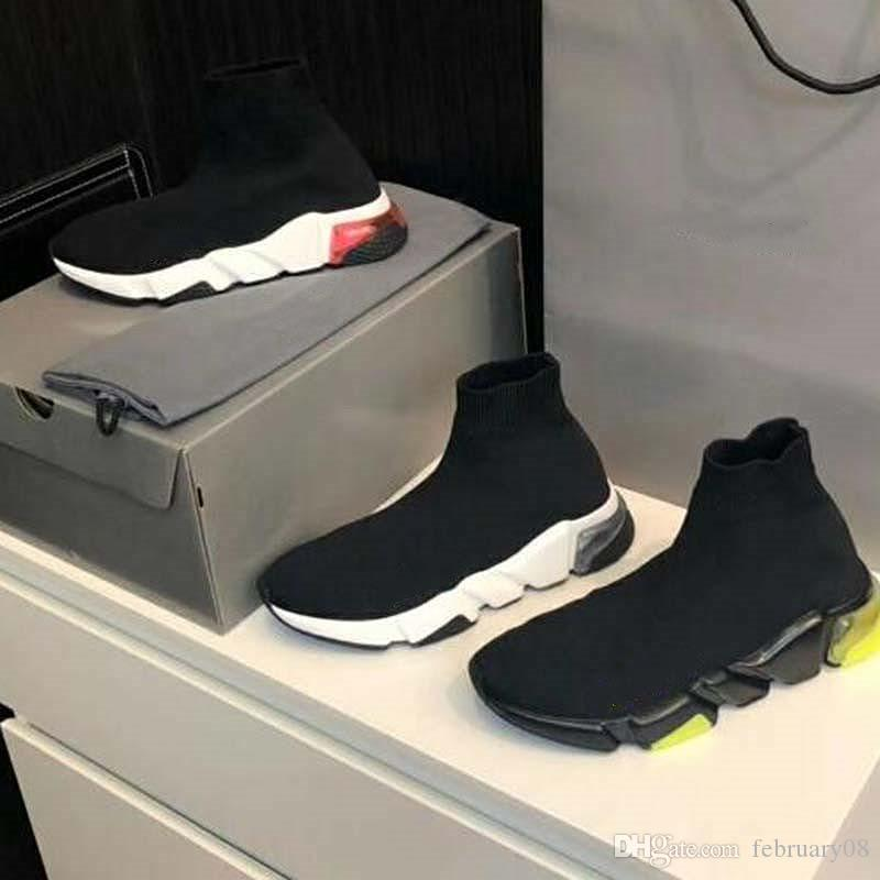 Высокое качество Unisex вскользь ботинки плоские Мода носки сапоги Женщина Новые нескользкую на эластичной ткани Скорость тренер бегущий человек обувь на открытом воздухе FF1