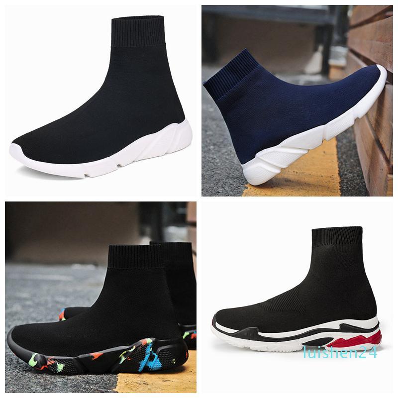 2019 mode Chaussette Chaussures de Course Partants Speed Entraîneur Designer Shoes pour homme femme Souliers simple 36-45L24