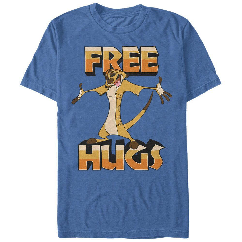 Lion King Тимон Free Hugs Mens Graphic T Shirt