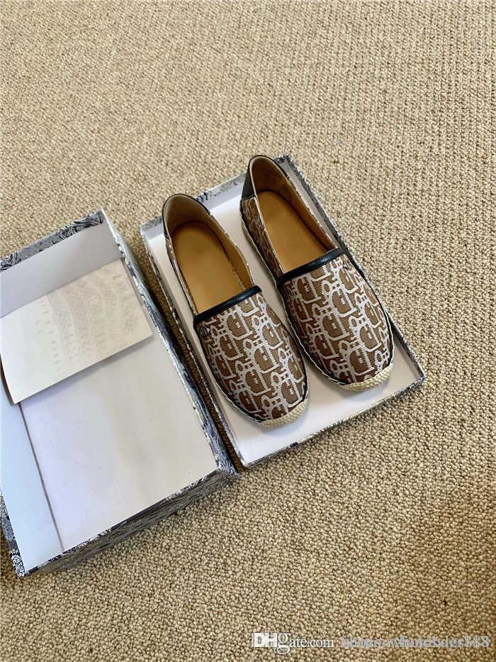 20SS frühen Herbst klassischen Segeltuch Fischer Schuhe, Liebhaber dreidimensionale Stickerei Freizeitschuhe mit original box
