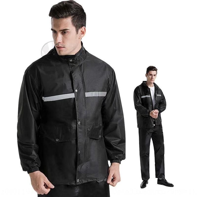 PG4Ql WnoX9 siyah pvc sürme Oxford koruma bez su bez yetişkin bölünmüş erkek ve kadın açık işgücü yansıtıcı yağmurluk ve yağmurluk Ç
