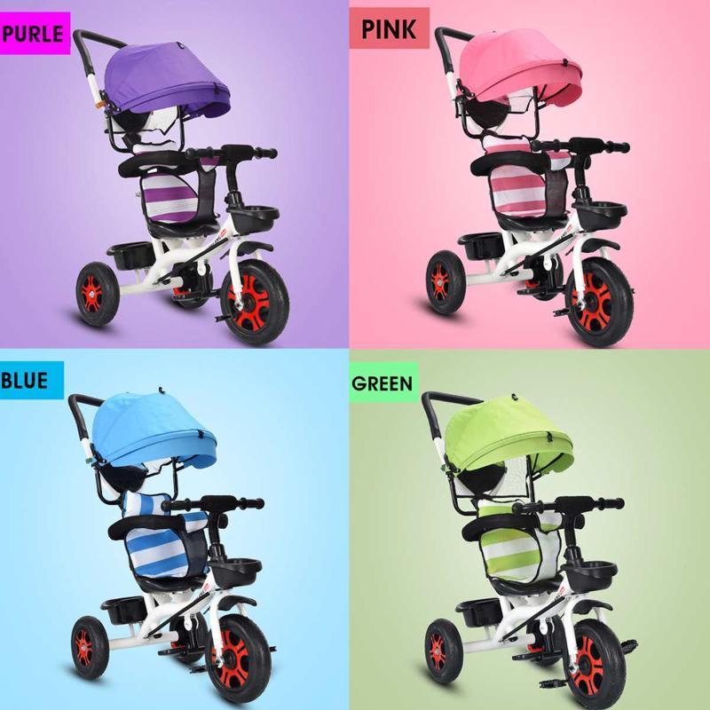 4 in 1 baby tricycle bike three wheels stroller