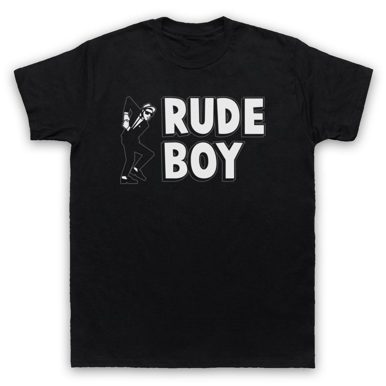Rude Boy JAMAICANA STREET CULTURA SLOGAN 2 TONE SKA FAN das mulheres dos homens T-shirt infantil
