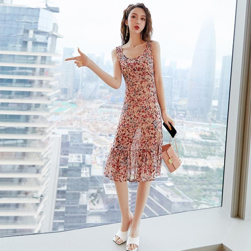 MmHus Suspender Франции первой любви Platycodon grandiflorum новый свет зрелый стиль талия похудение цветочного fHPTN юбка платье платье раздвоение суспендирует