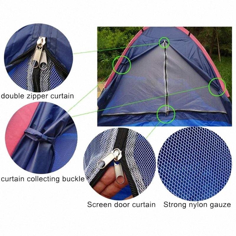 Doppel-Außensinglelayer Strand-Zelt Reise windundurchlässige wasserdichte Wandern und Camping Camping Wandern Vorzelt Ultraaußen F BYiu #