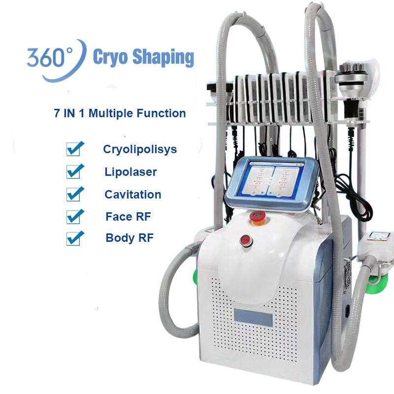 NEW Cryolipolysis оборудования портативный жир замораживание ультразвуковой кавитации оборудование Zeltiq жир замораживание машина ВЧ омоложение вакуумных терапий