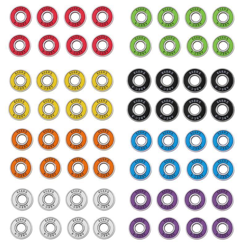 스케이트 보드 베어링은 8 팩 ABEC-9, 롱 보드 롤러 인라인 스쿠터 608rs