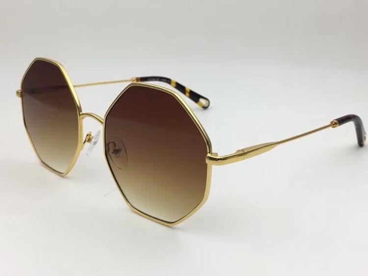 2020 Fashional CE2134 Metal Irregular Gafas de sol Muti Forma Muti Femenino UV400 Gradado Gafas de sol Tamaños generales con la cadena colgante de borla