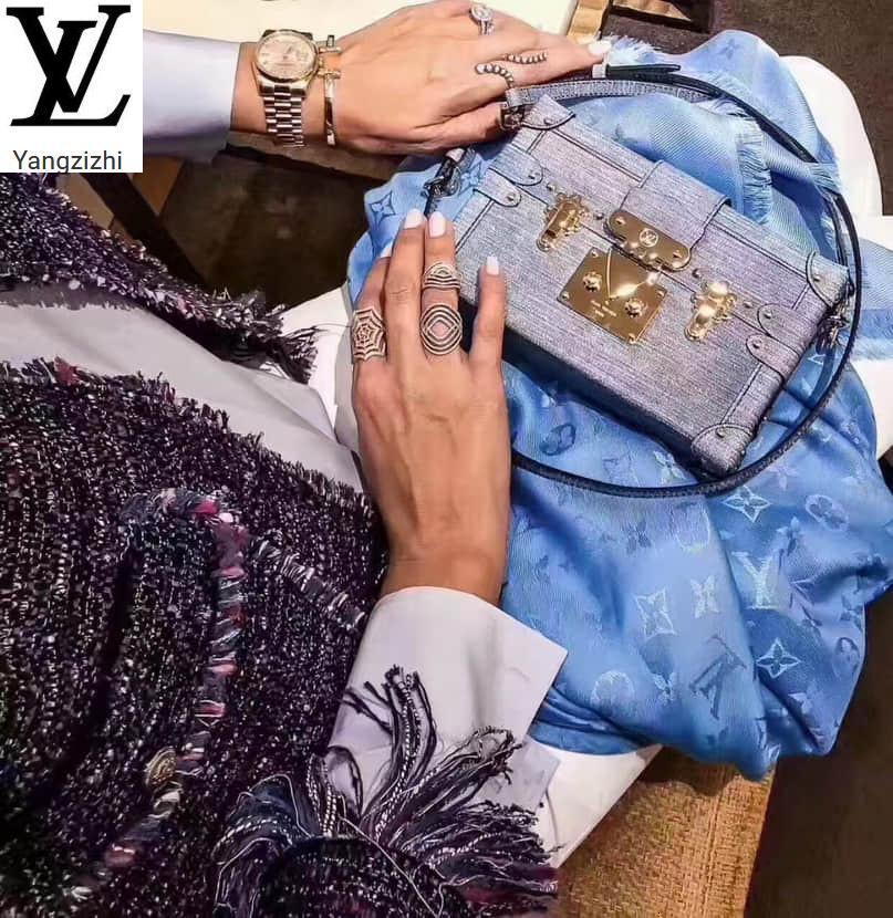 Yangzizhi New Petite Malle Handbag Leather Box Messenger Bag M54589handbags Bags Top Handles Shoulder Bags Totes Evening Cross Body Bag