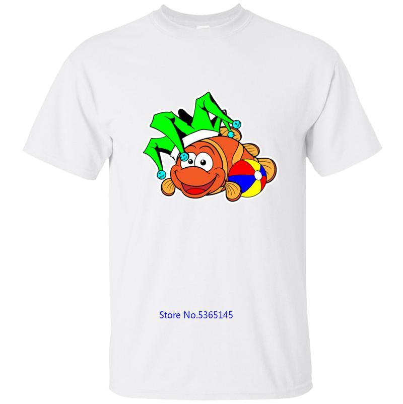 Komik Casual Palyaço balıkları Balık Hayvan Hayvanlar Tişört Erkekler Tişörtlü Tişört Katı Renk Yaz Erkek Artı boyutu 3XL 4XL 5XL Hip Hop