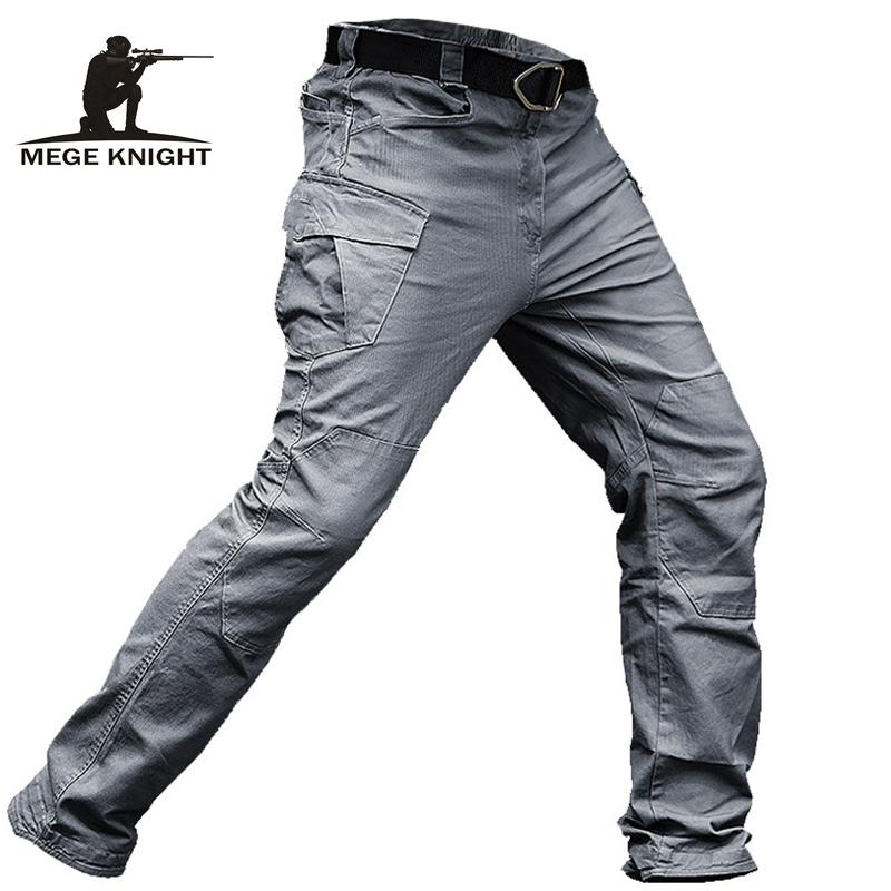MEGE Tactical Pants Men Military Clothing Cargo Pants Army Casual Style Combat Trousers Cotton Stretch Multi pocket Dropshipping T200731