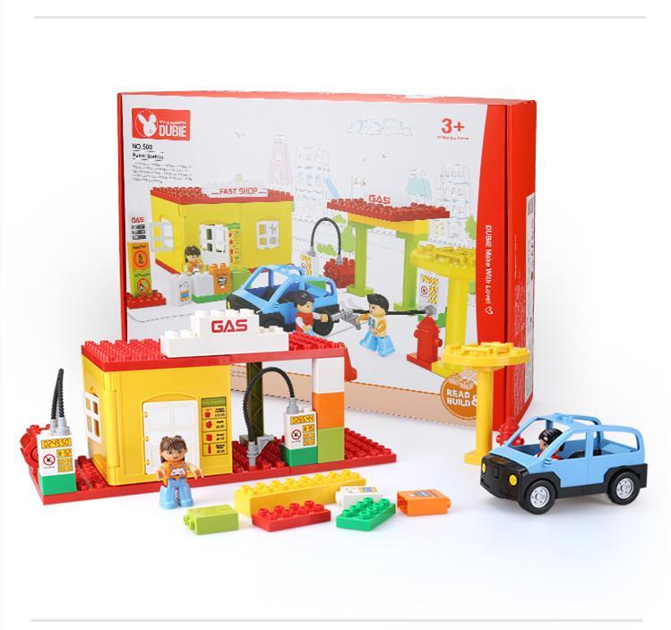 série de la station de patrouille de grands blocs de construction de granules jouets pour le cadeau des enfants 02