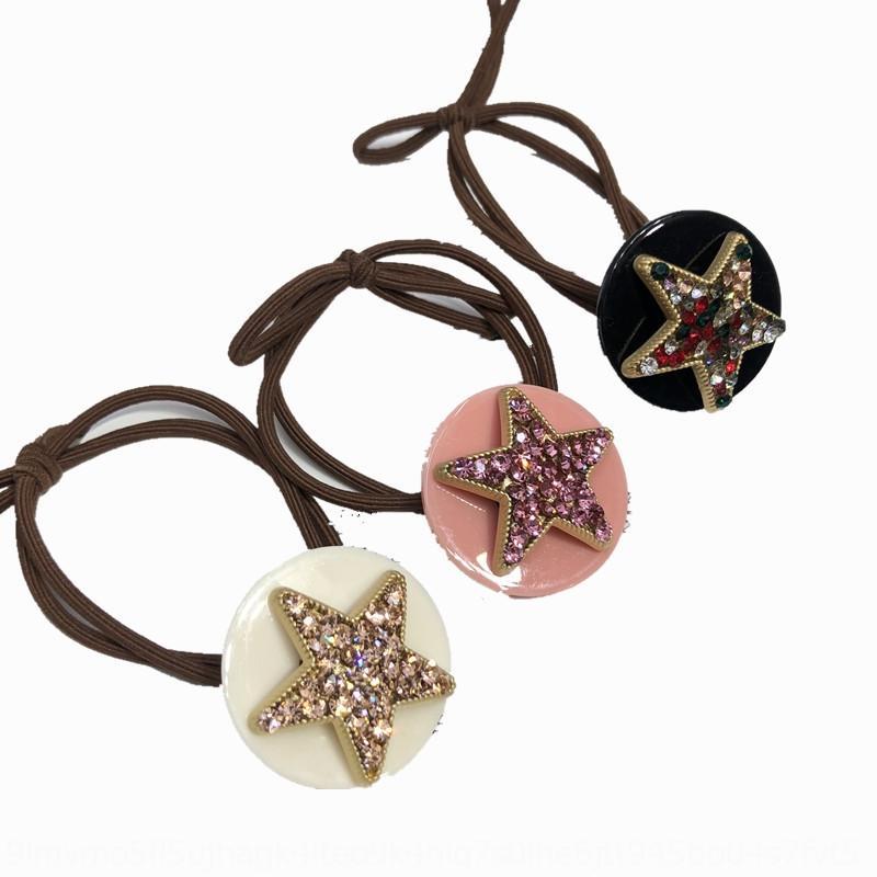 JBeGI C135 bant Elmas kauçuk Elmas kaplı çiçek beş köşeli yıldız Olimpiyat elmas Süper Flaş saç aksesuarları çift katman düğümlü