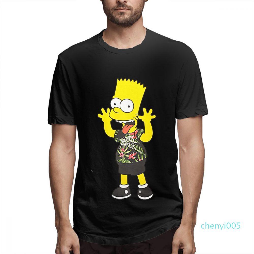 Simpsonlar Moda Tasarımcısı Gömlek Simpsons Baskılı T Gömlek Nedensel Hight Street c4903c05 Gömlek Erkek Kısa Kollu Gömlek Womens