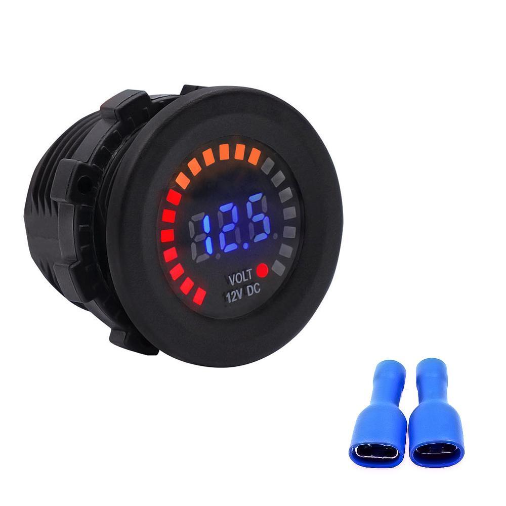 New impermeável 12V Car LED voltímetro digital de tensão medidor de bateria para Marine Boat