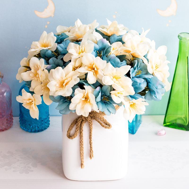 10 Swallow grama Alto grau de flores artificiais Sala Quarto Estudo Flower Decoração Silk falsificação flor