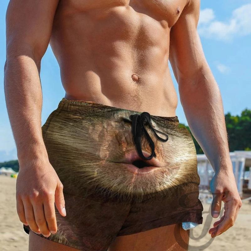 Sommer-Board Shorts Männer Kordelzug Special Print Beer Festival-Strand-Hosen Hosen Mann Shorts Hosen