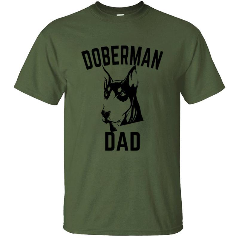 Fitness Humour Doberman papa T-shirt Lumière du soleil Big Taille S ~ 5xl normal T-shirt Fashion Hiphop Top O Neck