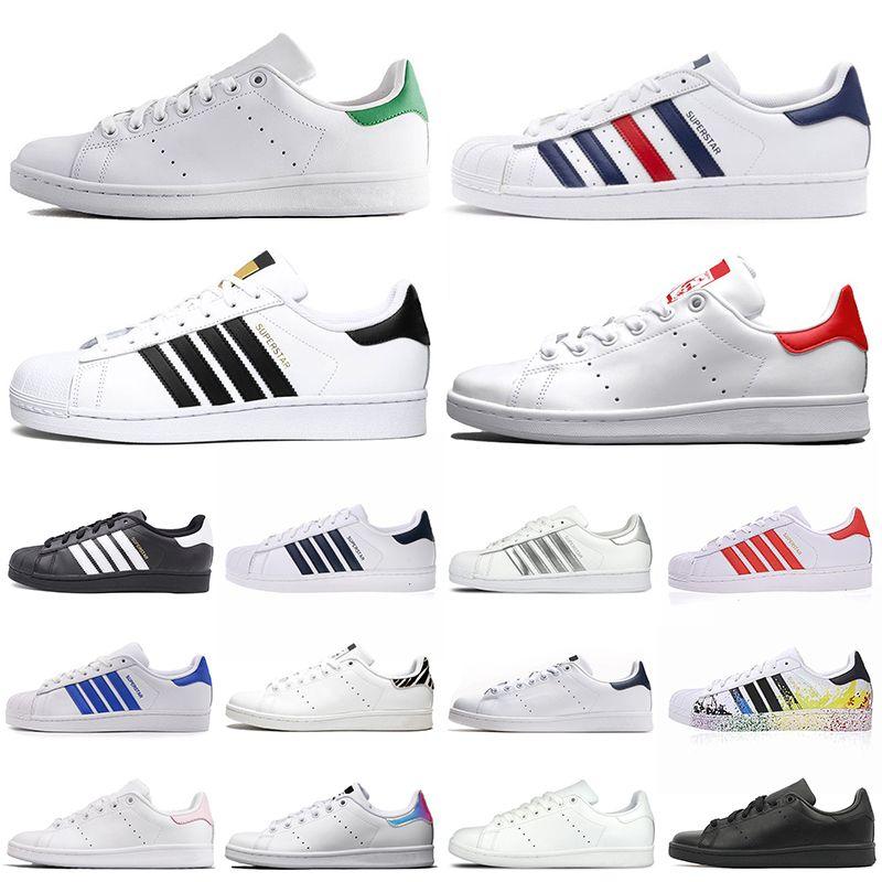 adidas stan smith superstars superstar الأسهم x سميث مصمم أحذية رياضية الرجال النساء Chaussures ثلاثية أسود أبيض زيبرا أزياء رجالي مدرب الأحذية الرياضية عارضة