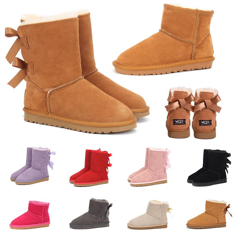 Snow Boots for woman australian ankle knee high lady girls 2020 new designer luxury fur platform snow winter shoes womens trainers sneakers