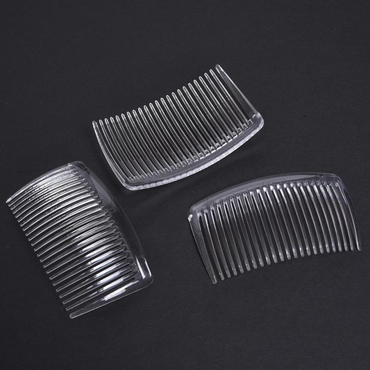 Heißer Verkaufs-handgemachte Comb 29 23 Tooth Kunststoff Kopfbedeckung Haarschmuck Frauen DIY-Klipp-freies Verschiffen