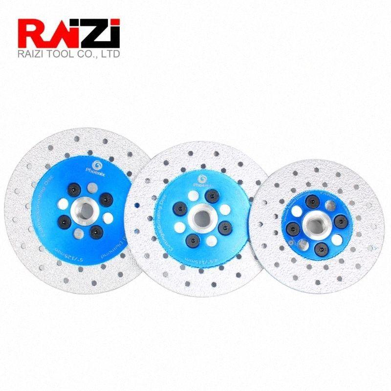 RAIZI 100/115 / 125mm En Elmas Kesme Taşlama Disk Çift Taraflı Vakum Lehimli M14 diş Taş Granit Şekillendirme Kesme Tekerlek Jr6t #