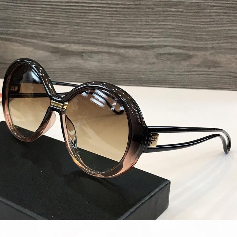 Lunettes de soleil nouveau concepteur de femmes de mode 7105 cadre rond jambes souples style simple couleur couture Lunettes de protection UV400 haut de lunettes de qualité