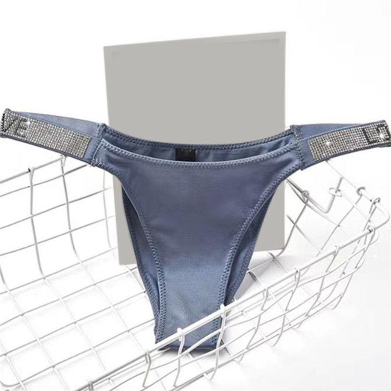 النساء الملابس الداخلية جنسي ثونغ رسالة الراين حزام G سلسلة الأزياء منخفضة الارتفاع تنجا سراويل سراويل T-الظهر سلسلة اللياقة البدنية ملابس داخلية