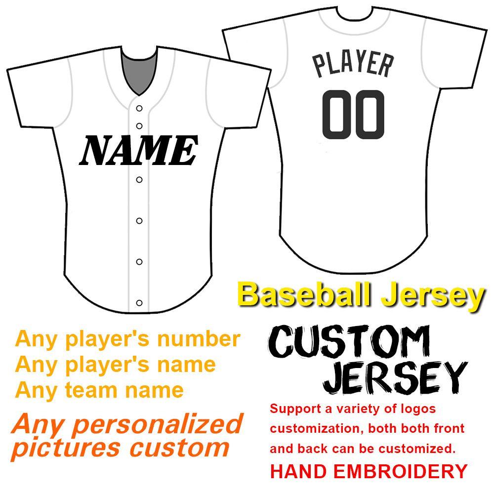 I numeri Uomo-baseball Jersey ricamati e nomi dei team, pls personalizzati aggiungere osservazioni in ordine TY
