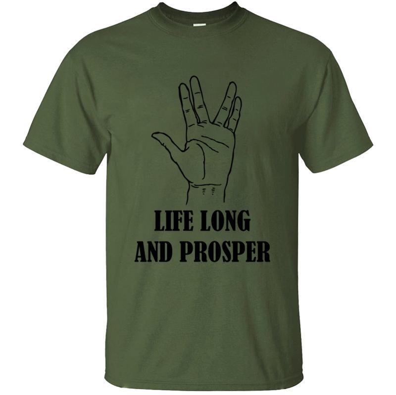 Harajuku Nefes Hayat Uzun Ve Prosper Tişört Model Katı Renk Erkekler Tişört sloganı Tee En Yeni Stil