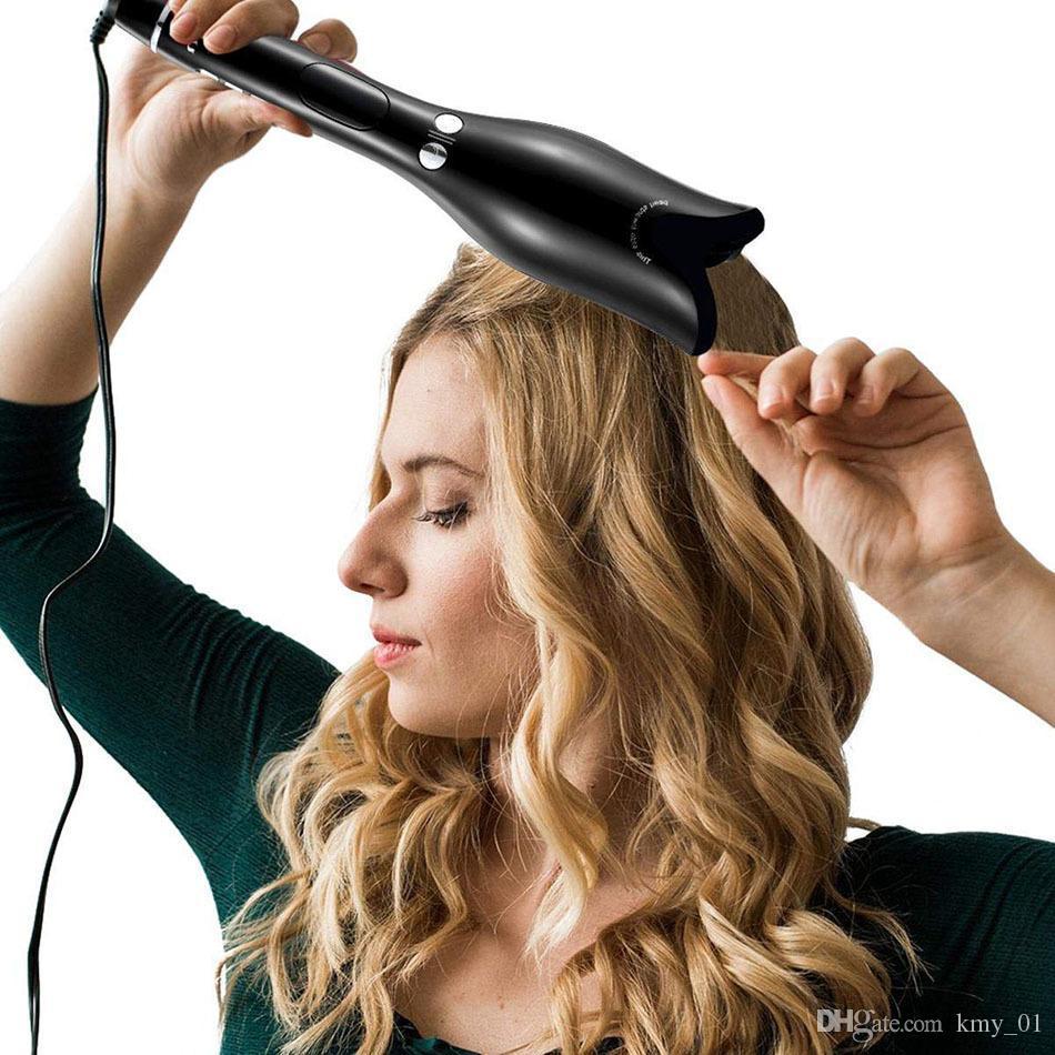 ارتفع على شكل متعدد الوظائف lcd الشباك الحديد المهنية الشعر بكرة أدوات التصميم بكرو عصا تردد حليقة التلقائي مجعد الهواء