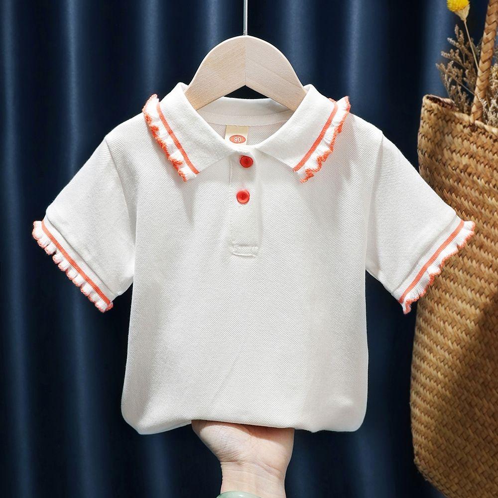 usura del bambino bambini bambino QVcxk delle ragazze breve stile coreano maniche corte collare maglietta di POLO casuale top 2020 T-shirt per bambini estate dei nuovi bambini