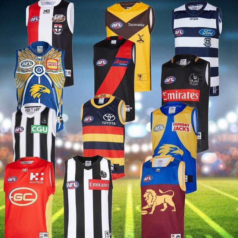 2019 2020 All Afl Jersey GWS Giants Geelong Cats Essendon Bombardieri Adelaide Crows Collingwood Guernsey 19 20 Rugby Jerseys League Singlet