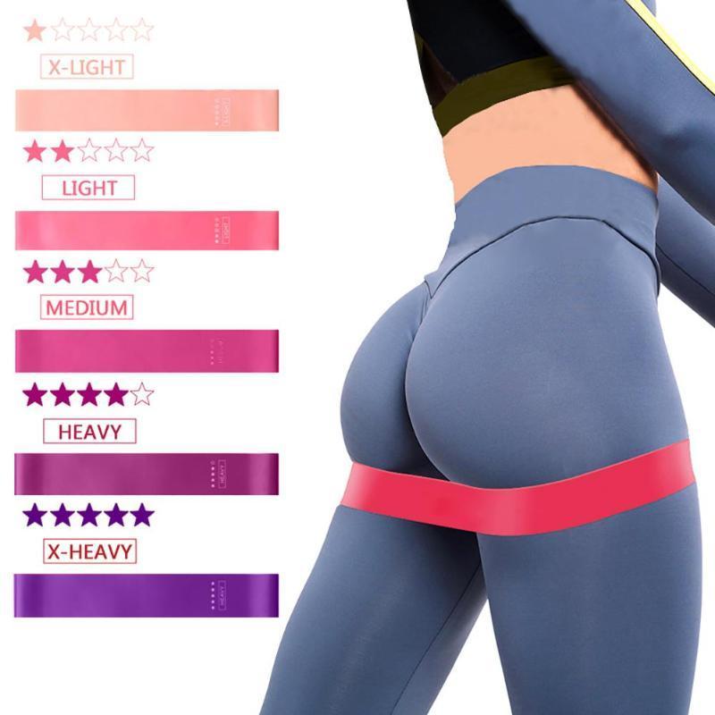 5pcs / Bandas Set elástico para Gum Academia Resistência Bandas Yoga Workout Esporte Elastic Rubber Training Exercício Equipamentos