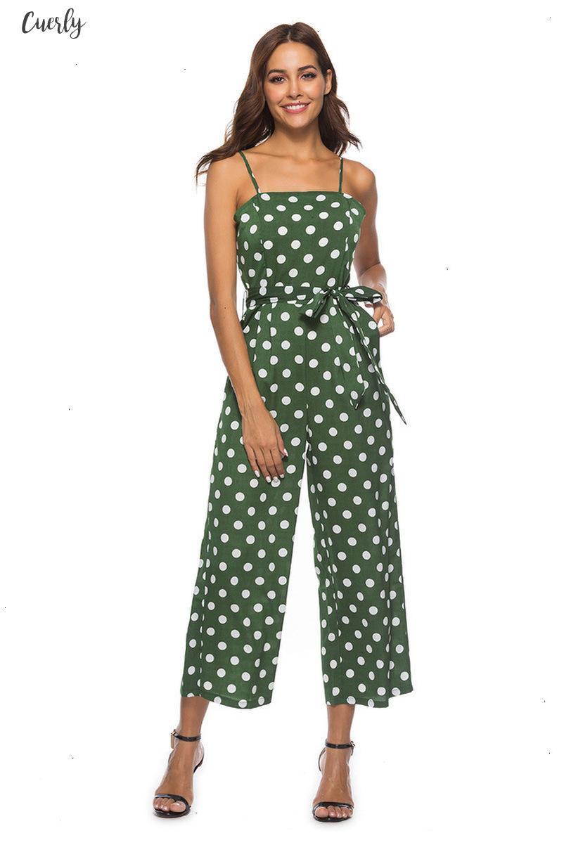 Women Rompers Summer Long Pants Elegant Strap Woman Jumpsuits Polka Dot Plus Size Jumpsuit Off Shoulder Overalls For Womens