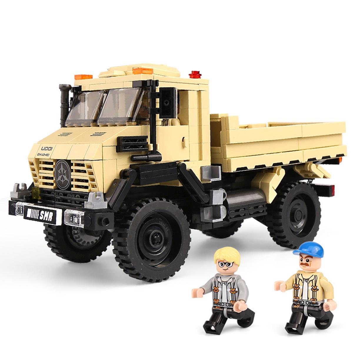 Des blocs de construction Jouets en plastique Briques assemblés Toy grosses particules Puzzle blocs bricolage bloc de construction jouets camion jouet