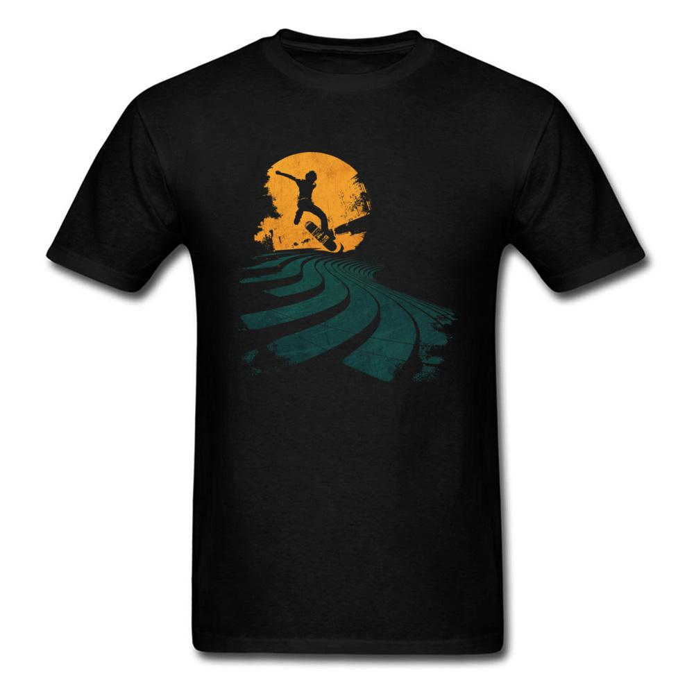 Slide And Fly Cool 2020 Men's Black Tops T-Shirt Skateboard Short Sleeve Tee Shirt Fashion Group Street Wear Custom