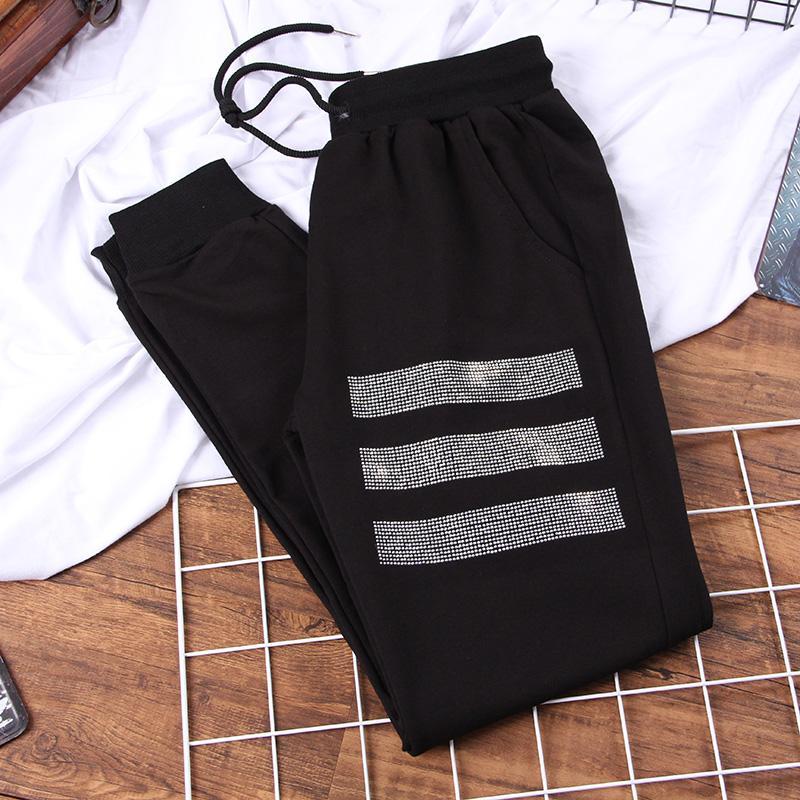 calças tamanho DONAMOL Além disso harem pants As mulheres de meia cintura solta Streetwear Baggy Tactical calças hip hop corredores de alta qualidade calça