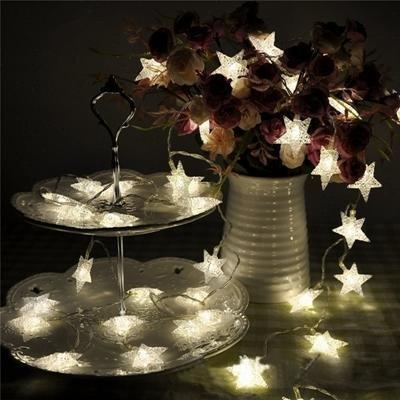 LED Star Flower Wedding Garland Home Decor String Light Christmas Decorations