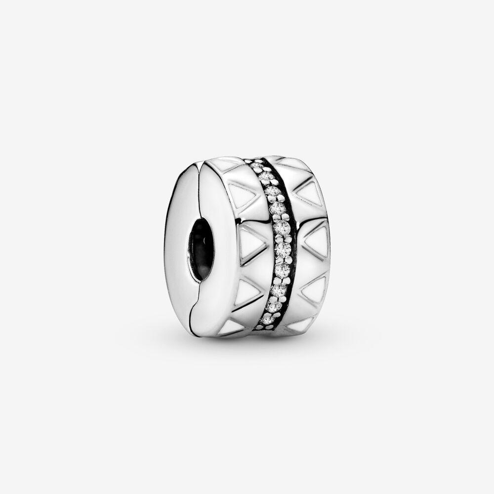 Yeni Geliş% 100 925 Gümüş Geometrik Çizgiler Klip Charm Fit Orjinal Avrupa Charm Bilezik Moda Takı Aksesuar
