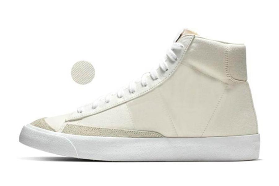 2019 Blazer Mid 77 Ayakkabı Lucid Yeşil Yelken Beyaz Chicago ve Toronto Tuval Pasifik Mavi Habanero Kırmızı ayakkabılar Boyut 36-45