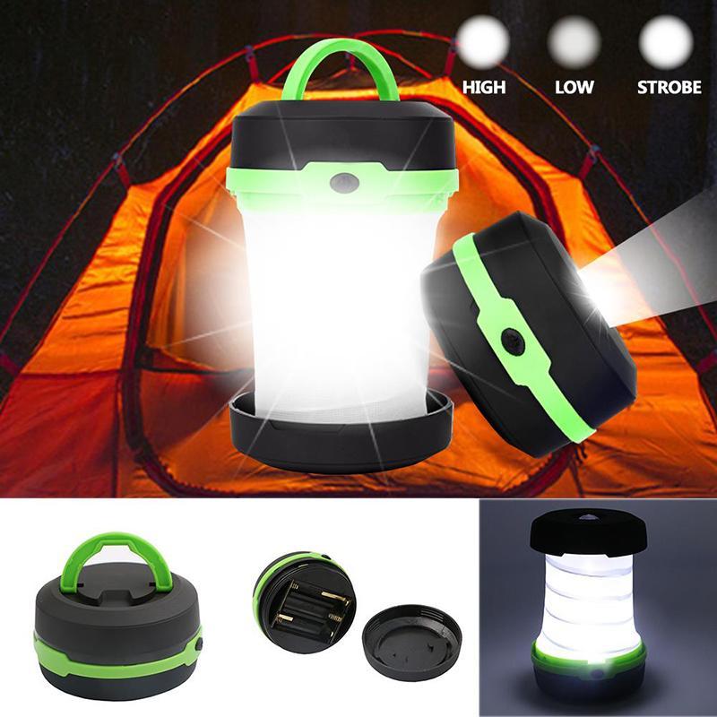 Linternas portátiles LED plegable Camping Luz Al aire libre Tres modos de iluminación Tienda impermeable