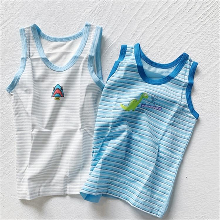 WBflf 52604 summer new baby comfortable cute cartoon boy girl sleeveless 52604 summer new baby comfortable vest cute cartoon boy girl sleeve