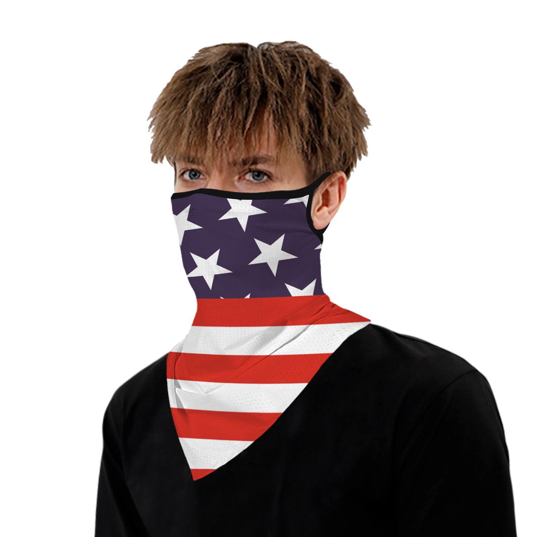 impresión digital de la cara del pañuelo diseño de la máscara de polvo cuello máscara de excursión en bicicleta al aire libre Máscara Pañuelos Pañuelo cuello de la cara BWF465