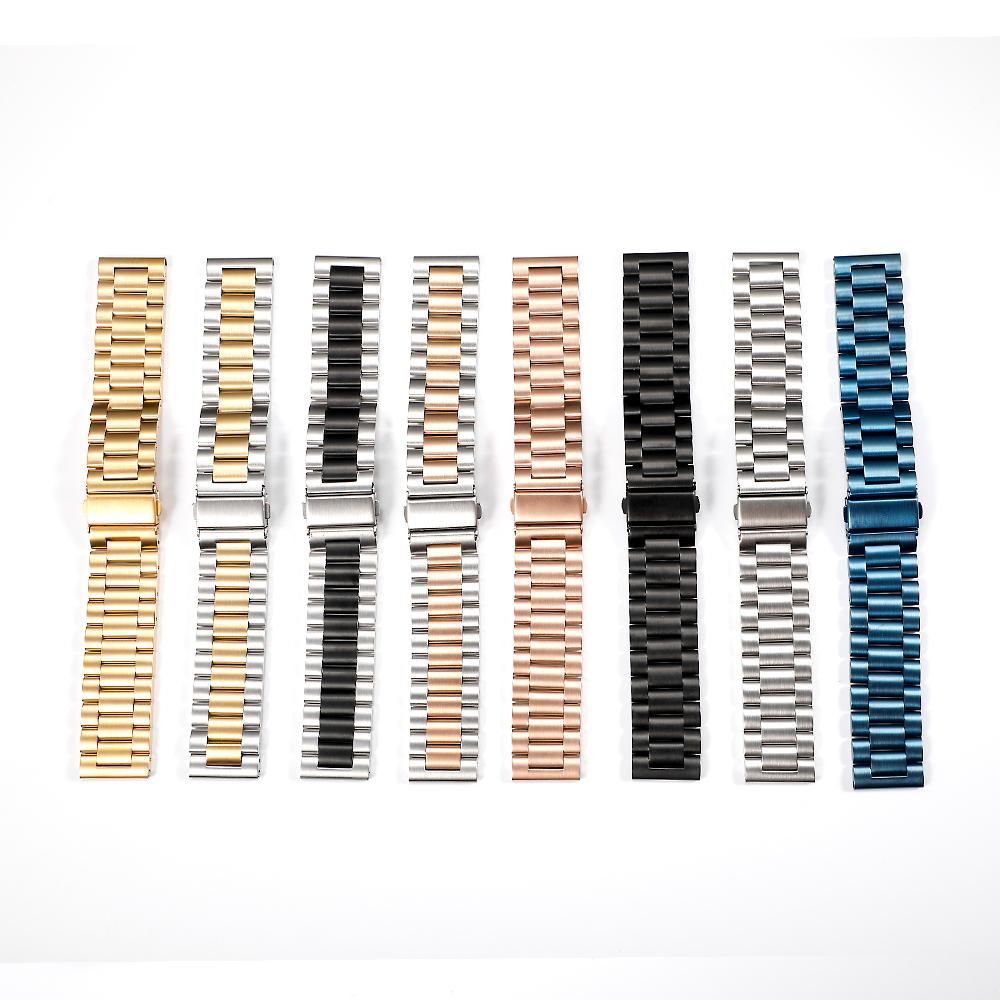 22mm و 20MM الفولاذ المقاوم للصدأ المعادن الفرقة لسامسونج S3 جير الحدود كلاسيكي حزام حزام الفولاذ المقاوم للصدأ سوار SM-R760 SM-R770 المعادن
