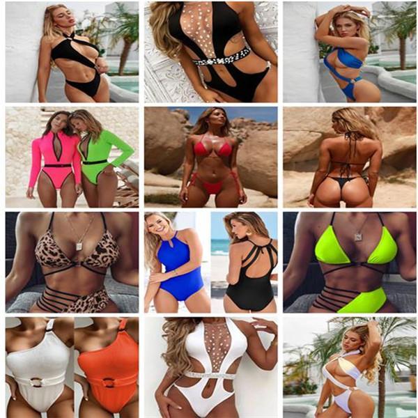 Abiti da bagno da donna Summer One Piece Bikinis Designer Sexy Leopard Leopard Nuovi Bras Bries Bikini Multi scelta