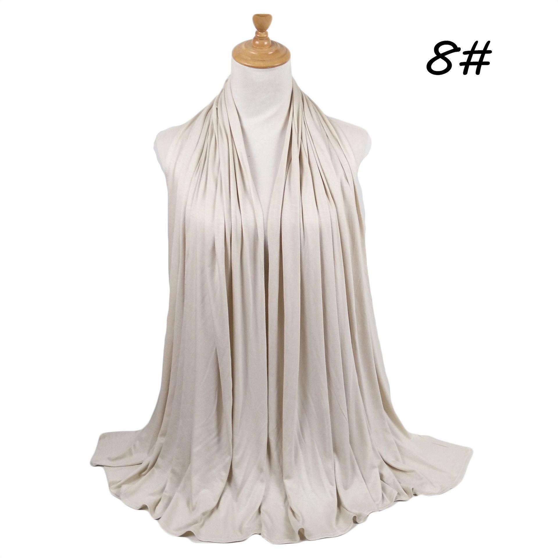 2020 Cotton Knit Jersey Hijab Abaya Scarf Turban Muslim Hijabs Foulard Femme Turbans For Women Headscarf Turbante Musulman