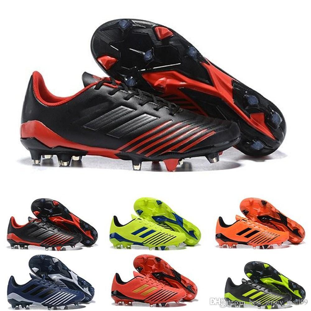 Entrega rápida Original Predator 19,4 TF FG Soccer Shoes Grampos Para Mens Cheap Athletic Football Grampos 2019 Futebol Botas Outdoor Size39-45