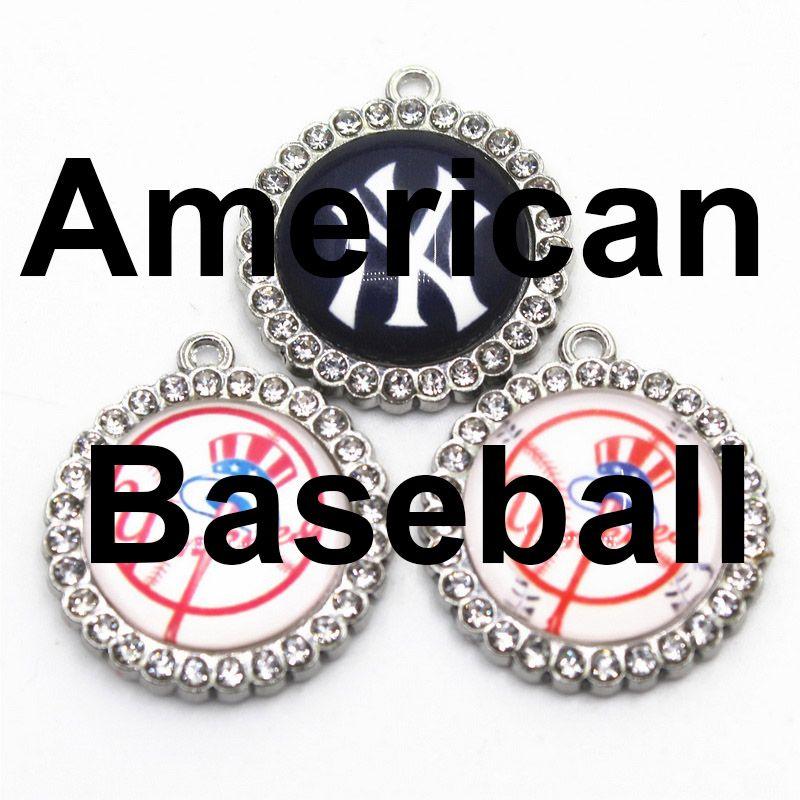 Orecchini Charms Charms US squadra di baseball NY Yankees ciondolano Sport fai da te Bracciale pendente della collana dei monili di fascini pensili